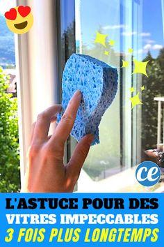 Pluies, poussière, traces de doigts, vos vitres sont en permanence sales ? Et dès que vous les nettoyez, elles se resalissent aussitôt ? Il existe des produits comme le Starwax Vitres, mais ce n'est pas donné et loin d'être efficace ! Heureusement, je vous dévoile aujourd'hui un truc de pro pour avoir des vitres qui restent impeccables 3 fois plus longtemps. En plus, c'est facile et ça ne coûte presque rien ! Avec seulement un peu d'eau, de bi Room Scents, Cleaners Homemade, Window Cleaner, Working With Children, Home Hacks, Tupperware, Beauty Care, Clean House, Home Deco