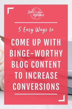 Struggling to come up with blog content ideas? In this article, I'll share 5 tips to come up with binge-worthy blog content ideas. You'll never run out of new blog posts! Every entrepreneur needs to read this =) Repin and grab my free cheat sheet to get more leads with Pinterest! #shesmakinganimpact #pinterest #blogging #girlboss #entrepreneurtips #bloggingtips Content Marketing, Media Marketing, Digital Marketing, Blog Topics, Creating A Blog, Blogging For Beginners, Make Money Blogging, How To Start A Blog, Just For You