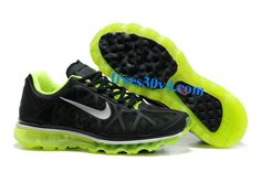 Womens Black Summit White Neon Lime Nike Air Max 2011 Running Shoes
