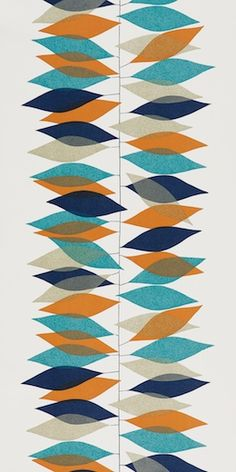 Miro in teal/orange by Sanderson (via design*sponge http://www.designspongeonline.com/2011/03/50s-wallpaper-by-sanderson.html)