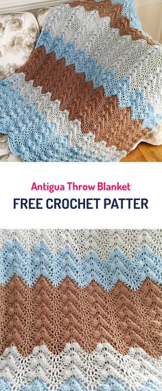 Antigua Throw Blanket Free Crochet Pattern #crochet #yarn #crafts #home #homedecor #style