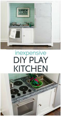 Toddler Kitchen, Real Kitchen, Wooden Play Kitchen, Diy Outdoor Kitchen, Toy Kitchen, Kitchen Appliances, Diy Kitchen For Kids, Kitchen Playsets, Kitchen Ideas
