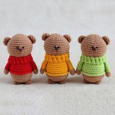 Amigurumi - Bear Collection - Gấu mặc áo ấm - Free Pattern