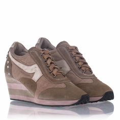 Ash Austin Wedge Sneaker Clay Suede/Canvas 312001