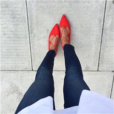 ASOS | ASOS LANA Pointed Lace Up Ballet Flats at ASOS
