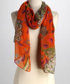 Take a look at this Rikka Orange Shape Scarf by Rikka Scarves & Hotties on #zulily today!