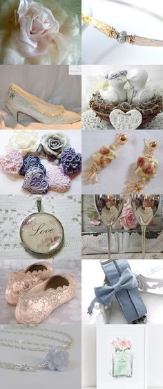 Serenity Blue and Rose Quarts Pantone Color 0f 2016  by Marilyn on Etsy--Pinned+with+TreasuryPin.com