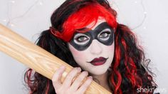 Harley Quinn Halloween makeup: Get out your makeup bag, and become Harley Quinn at your next Halloween party.