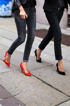 Chic heels + Pants