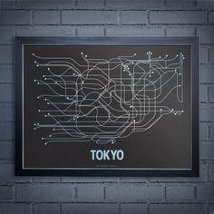 Iets voor aan de muur? Minimalistische posters van metrokaarten