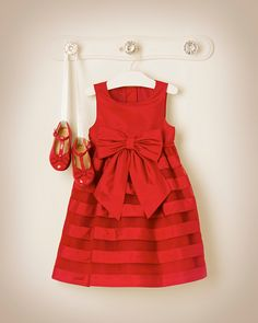 Janie & Jack 2013-2014 Holiday Carousel, Silk Elegance Duppioni Tulle Dress in Holiday Red, Silk Bow Tulle Headband in Holiday Red, and Silk Bow Patent Leather Shoe in Holiday Red