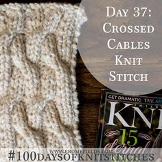How to knit crossed cables +  Video