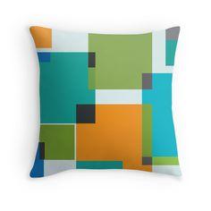 Squares - Throw Pillow - Multicolor - http://annumar.com/en/designs/squares-throw-pillow-multicolor