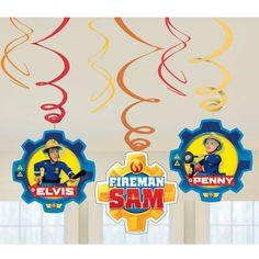 6 X Fireman Sam Birthday Party Decorations Hanging Swirl Decorations Birthday Party Decorations, Birthday Parties, Boy Birthday, Happy Birthday, Fireman Sam, Shops, Helium Balloons, Samar, Kit