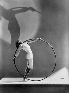Woman with Hoop - Photographed by Hoyningen-Huene,