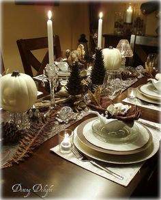 White Pumpkins and Crystal by dining delight, http://dining-delight ...