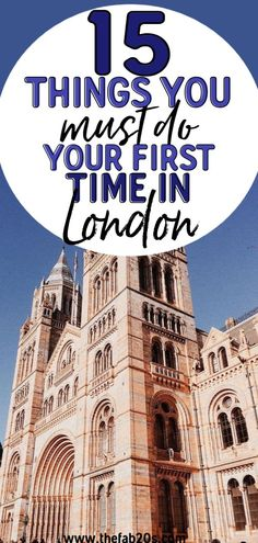 15 Things You Must Do In London If It's Your First Time! There's so much to see and do (and eat!) in this beautiful city. Get a drink at a local pub or explore the street food, theres so much to see you'll want to come back as soon as possible #london #travel