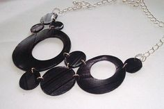 Jewelry made from recycled vinyl records