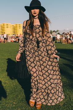 Boho Festival Style at Coachella 2016 shot by Driely S.  Spell Blog
