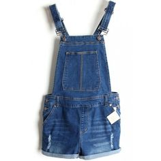 LUCLUC Dark Blue Detachable Straps Mid-waisted Suspender Playsuits (£28) ❤ liked on Polyvore featuring jumpsuits, rompers, lucluc and bottoms
