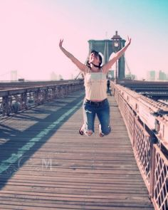 Jump & happiness -  by Carmen Moreno