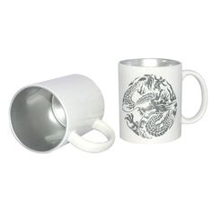 12oz Two-Tone Color Sublimation Mug-Silver - Vesub Sublimation Expert from China