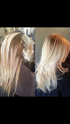 Painted on highlights with foils in front