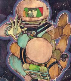 "humanoidhistory: ""Bob Pepper cover art for a 1971 edition of Isaac Asimov's David Starr, Space Ranger. """