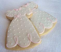 handcrafted cookies by sugarandflour Cross Cookies, Fancy Cookies, Iced Cookies, Cookies Et Biscuits, Holiday Cookies, Baby Girl Cookies, Baby Shower Cookies, Biscotti, Cookie Frosting