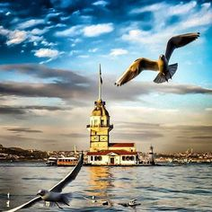 """Kız Kulesi / Istanbul"" Pictures To Paint, Cool Pictures, Beautiful Pictures, Istanbul City, Istanbul Turkey, Beautiful Places In The World, Wonderful Places, Cool Landscapes, Beautiful Landscapes"