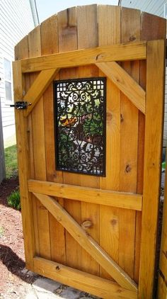 how a girl built a gate, diy, fences, how to, outdoor living, woodworking projects, I wanted my gate to be beautful This window adds so much character