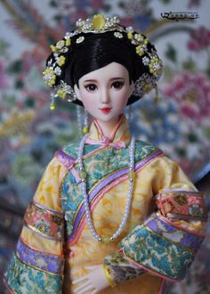 Chinese Dolls, Chinese Hair, Bjd Dolls, Girl Dolls, Doll Repaint, Chinese Culture, Asian Doll, Beautiful Dolls, China Art