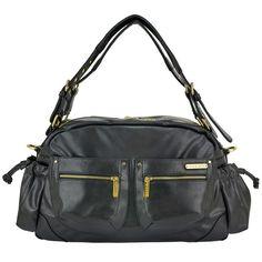 Jessica 7-Piece Diaper Bag Set - Black
