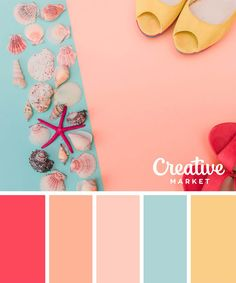 Images of pastel colors palette - Summer Color Palettes, Color Schemes Colour Palettes, Pastel Colour Palette, Colour Pallette, Summer Colors, Pastel Colors, Color Combinations, Cores Rgb, Decoration Palette