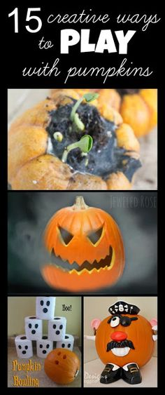 15 super creative ways to PLAY with pumpkins- I can't wait to try the smoking pumpkin!