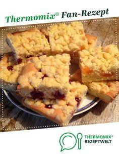 Streuselkuchen mit Obst - saftig und lecker von Dietzeridu. Ein Thermomix ® Rezept aus der Kategorie Backen süß auf www.rezeptwelt.de, der Thermomix ® Community.