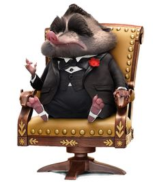 Big is an anti-hero from the 2016 Disney animated feature film, Zootopia. He is an arctic shrew with an ironic reputation of being the most feared crime boss in Tundratown. He is voiced by Maurice LaMarche who also voiced Inspector Gadget. Zootopia Characters, Zootopia 2016, Zootopia Movie, Cartoon Characters, Disney E Dreamworks, Disney Wiki, Disney Pixar, Walt Disney, Disney Animation
