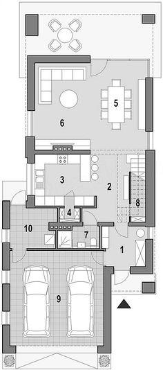 Projekt domu Fiodor G2 133,7 m2 - koszt budowy - EXTRADOM Architecture Plan, Kitchen Design, House Plans, Sweet Home, Villa, Floor Plans, House Design, Flooring, How To Plan