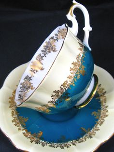 4:00 Tea...Royal Albert...Pompadour Series...teacup and saucer