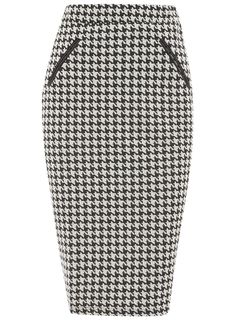 Oversize dogtooth pencil - New In Clothing - What's New - Dorothy Perkins