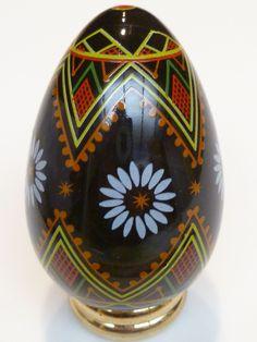 "Porcelain Painted Egg ""UKRAINIAN"