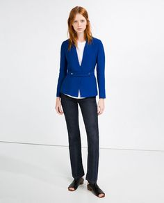 Image 1 of FABRIC WAIST BLAZER from Zara
