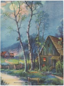 """Moonbeam Reflection""  R Atkinson Fox; 5.75x7.75"" $40.00"