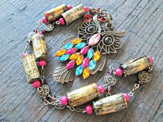 Boho Owl necklace  Eco-friendly jewelry  Nature by EarthChildArt