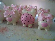 $$$ Pig Bank, Personalized Piggy Bank, Cute Piggies, This Little Piggy, Ideas Para Fiestas, Pottery Painting, My Favorite Color, Cool Toys, Decoupage