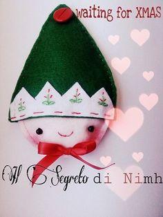 ELFY decorazione Natalizia in feltro, interamente realizzata a mano!, by Il segreto di Nimh, 15,00 € su misshobby.com