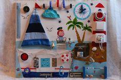 Купить Морской бизиборд,развивающая доска - комбинированный, бизиборд, развивающая игрушка, развивающие игрушки