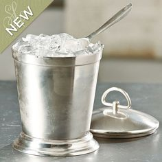 Southern Living Antiqued Silver Ice Bucket with Scoop from Ballard Designs