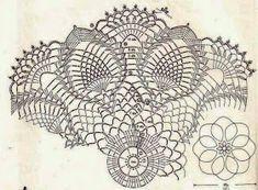 Kira scheme crochet: Album no. 1 Pineapple tablecloth