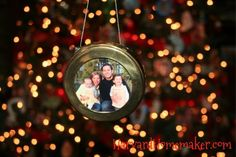 Frame the picture you use in your holiday card each year and turn it into an ornament.  Write the year on the back and you've got a precious keepsake.   #keepsake #ornaments #harvardhomemaker